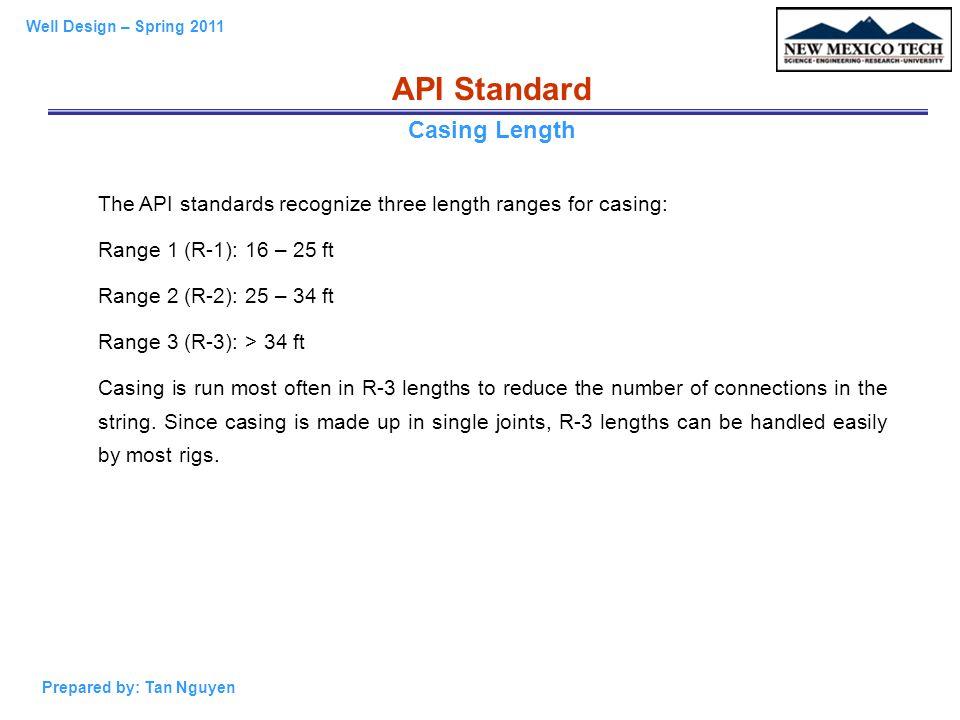 API Standard Casing Length