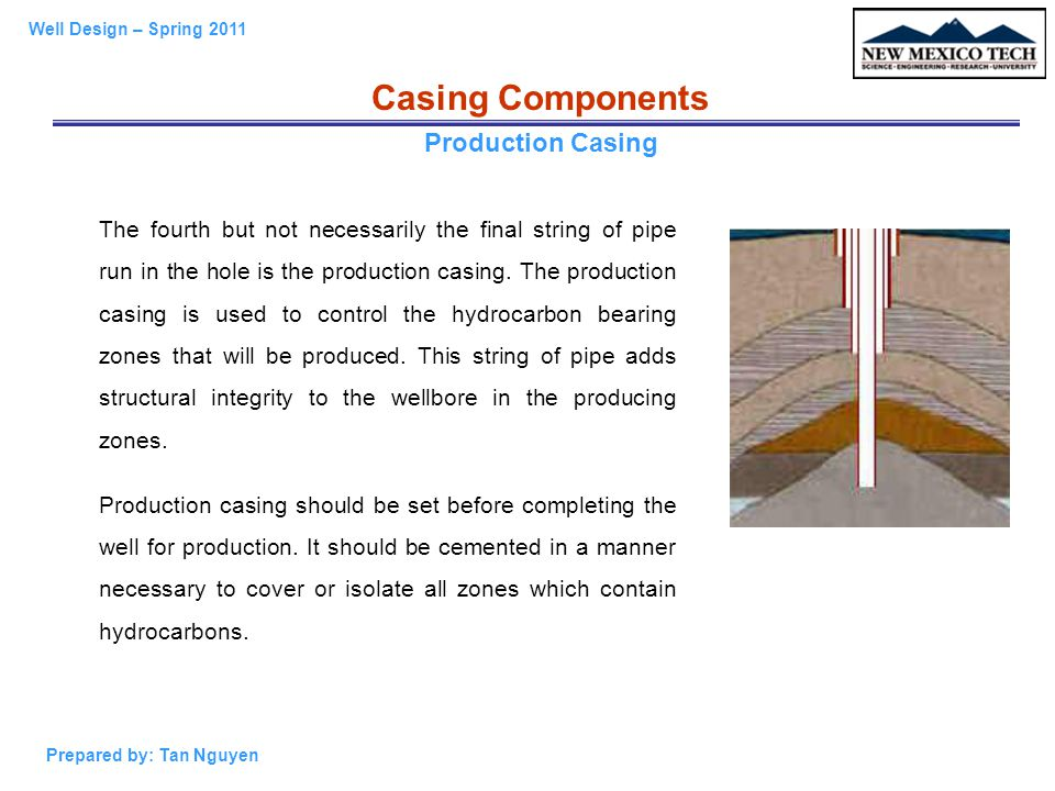 Casing Components Production Casing