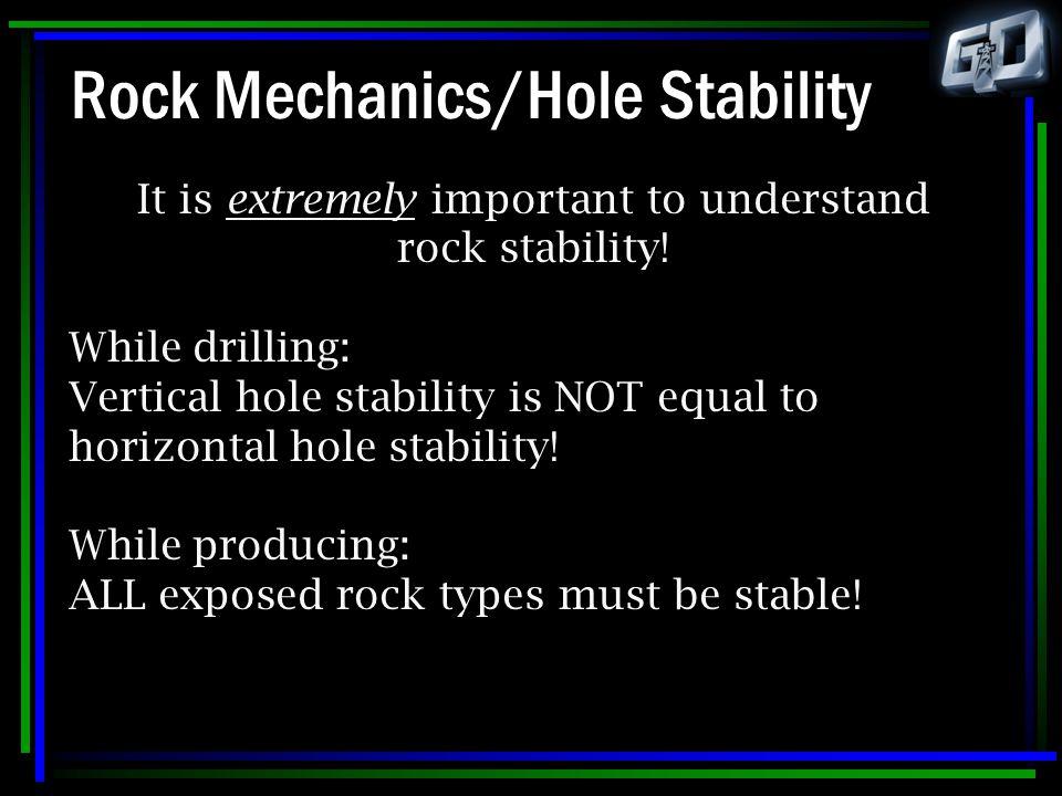 Rock Mechanics/Hole Stability