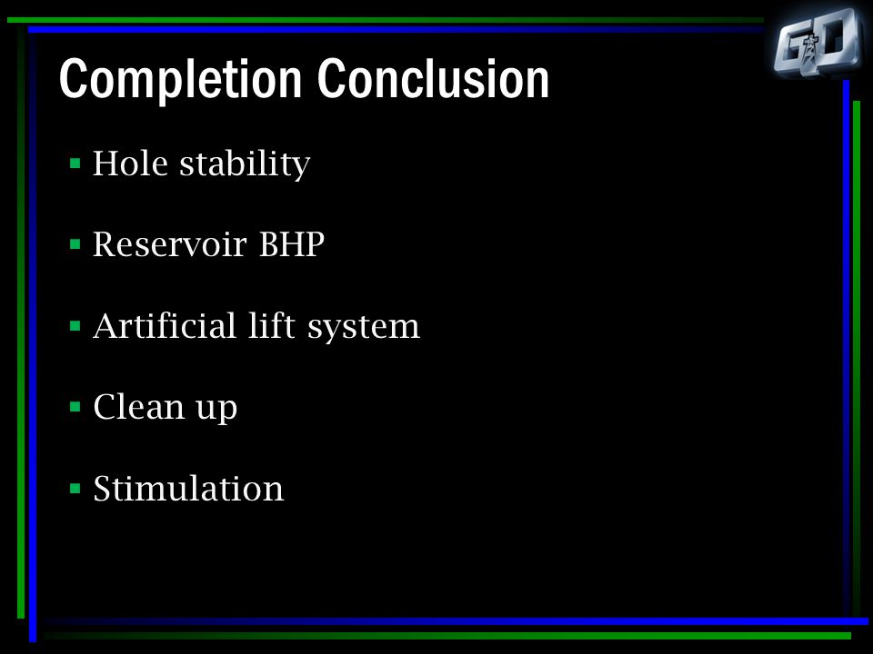 Completion Conclusion