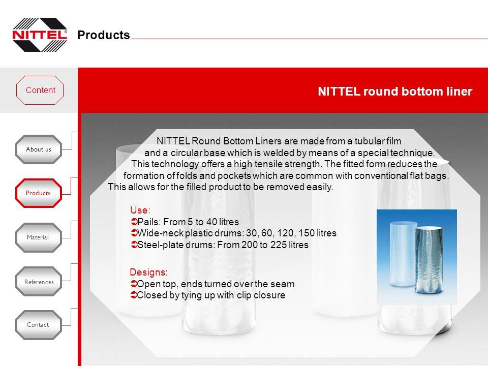 NITTEL round bottom liner