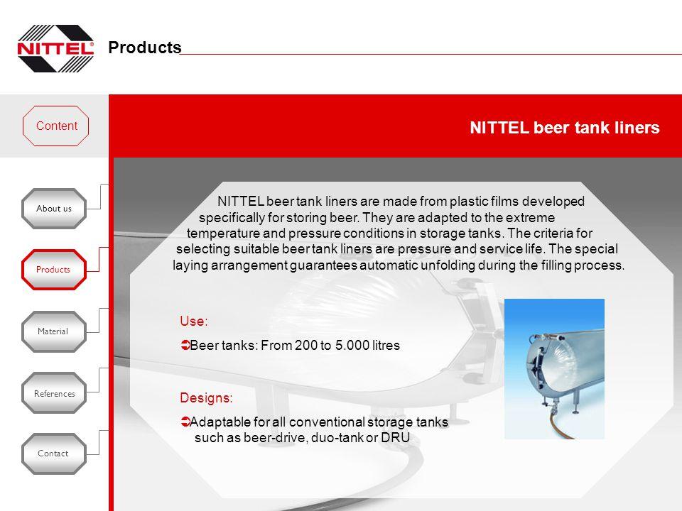 NITTEL beer tank liners