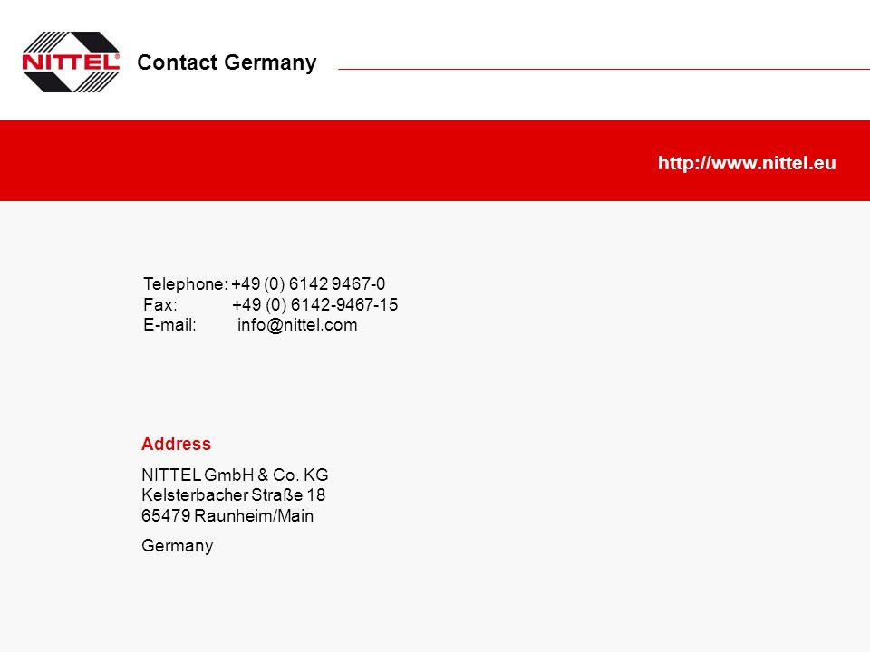 Contact Germany http://www.nittel.eu