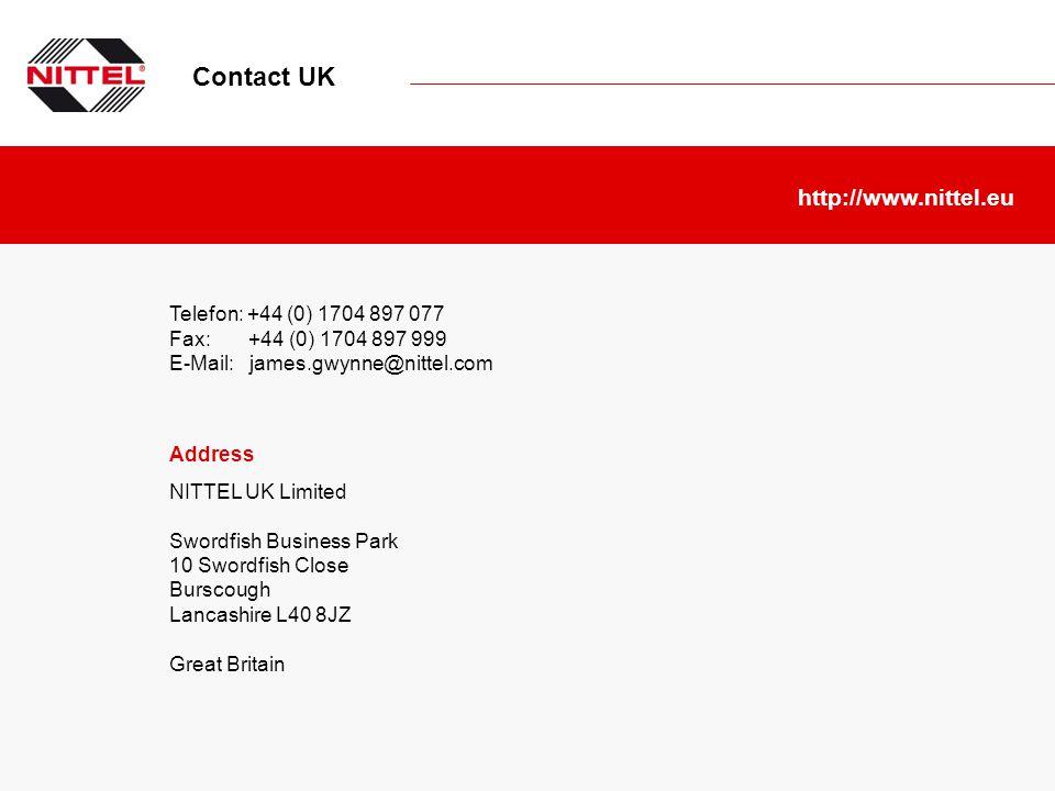 Contact UK http://www.nittel.eu