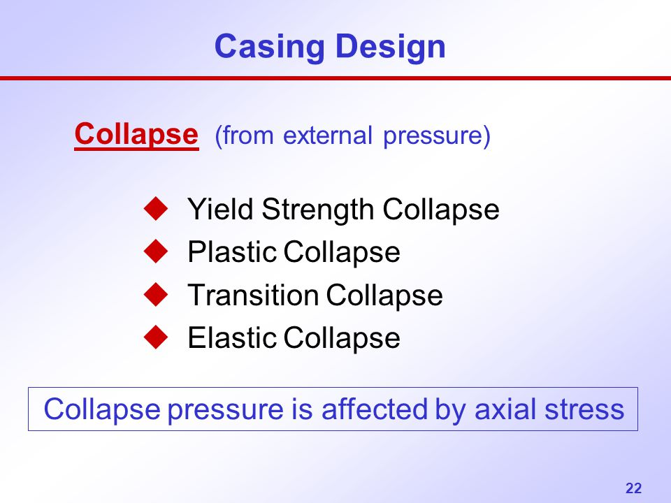 Casing Design Collapse (from external pressure)