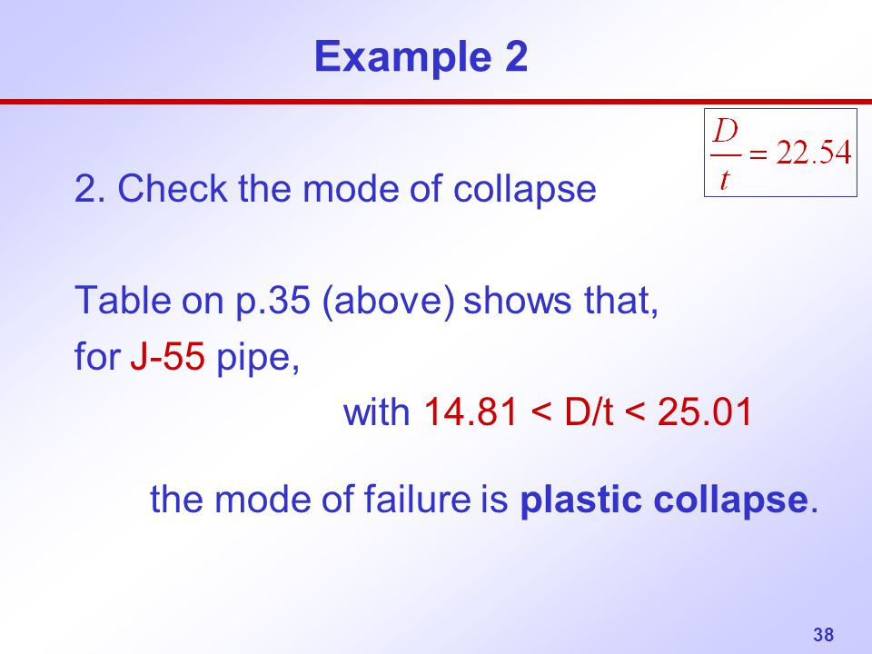 Example 2 2. Check the mode of collapse