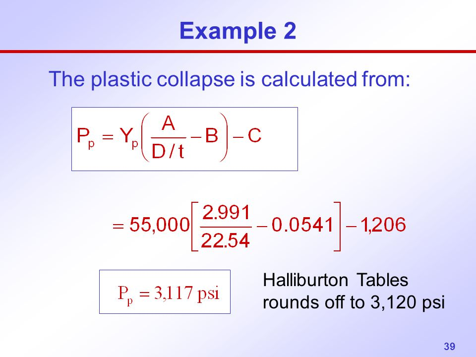 The plastic collapse is calculated from: