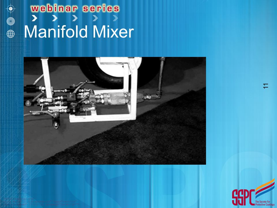 Manifold Mixer Pre-heating, Proportioning, and Mixing Before Transfer to Gun. *Piston proportioning pump used.