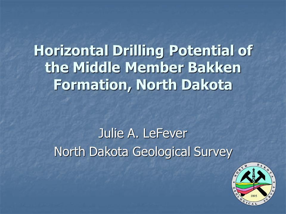 Julie A. LeFever North Dakota Geological Survey