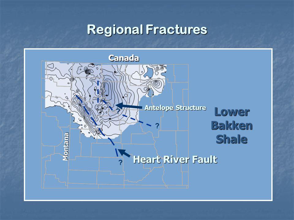 Regional Fractures Lower Bakken Shale Heart River Fault Canada