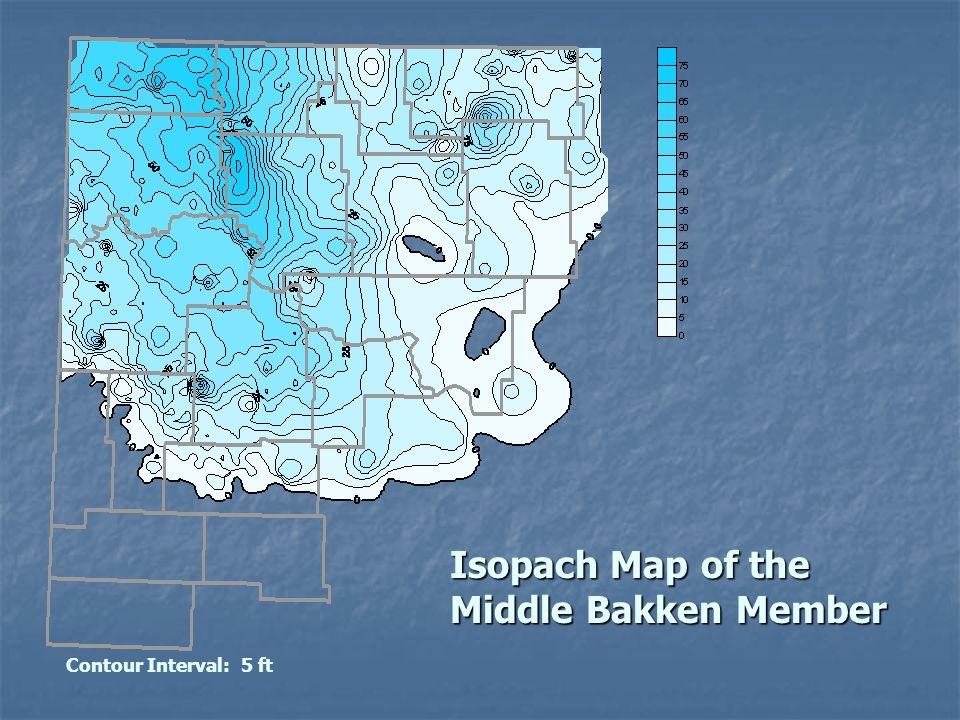 Isopach Map of the Middle Bakken Member