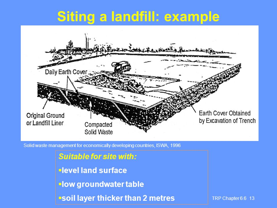 Siting a landfill: example