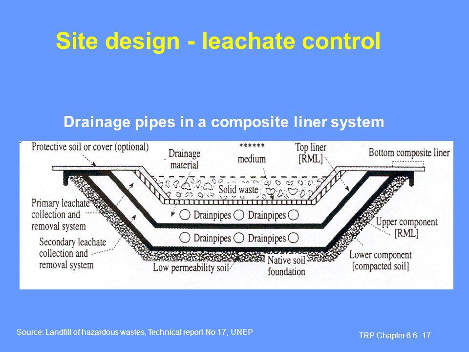 Site design - leachate control