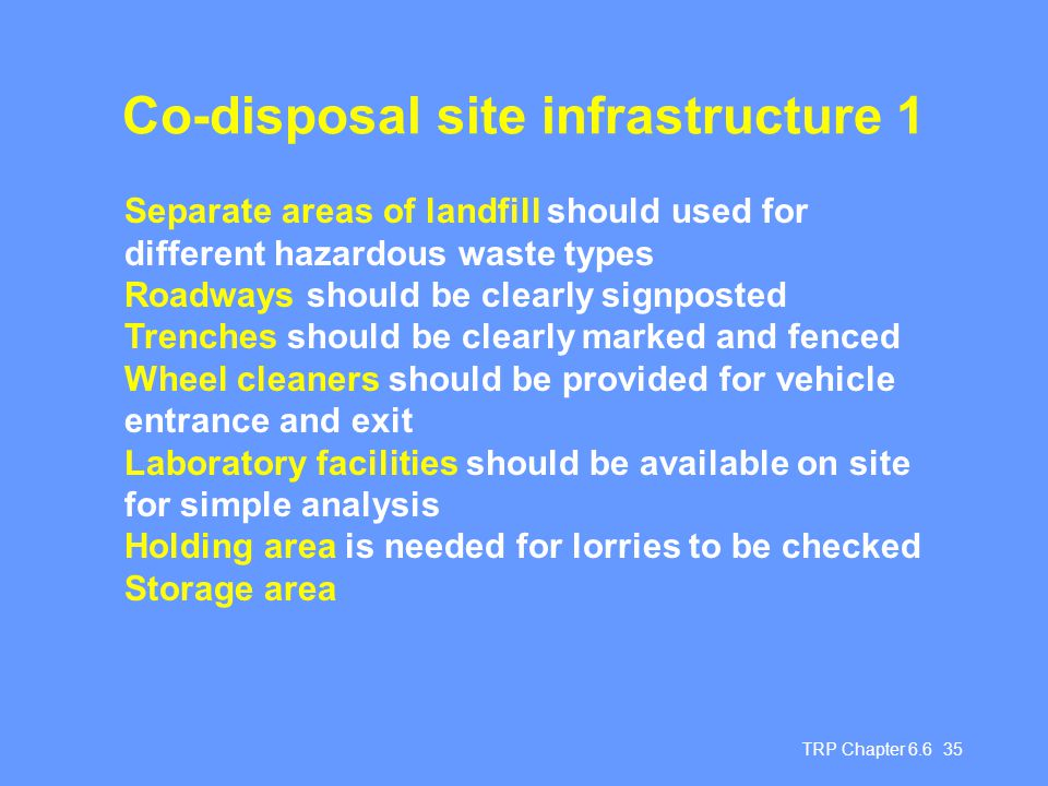 Co-disposal site infrastructure 1