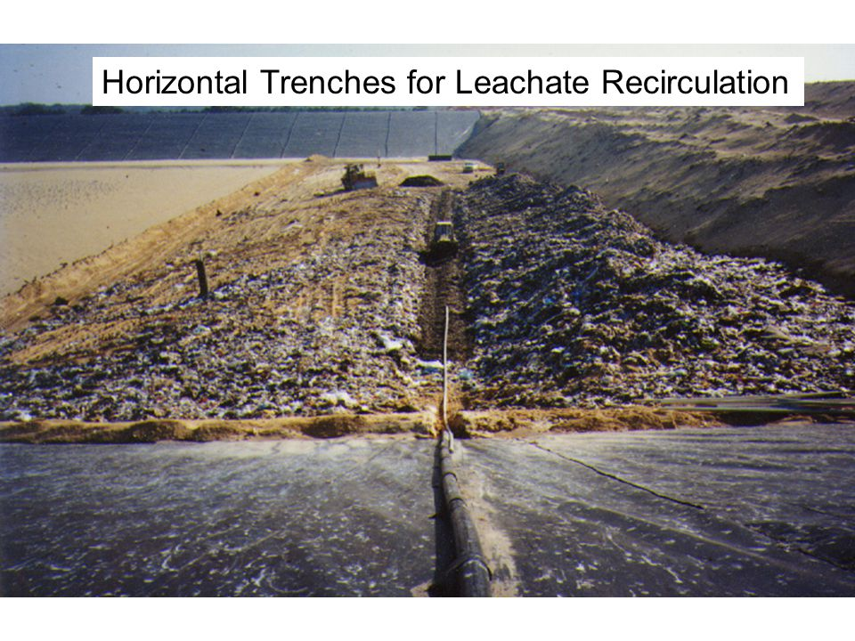 Horizontal Trenches for Leachate Recirculation