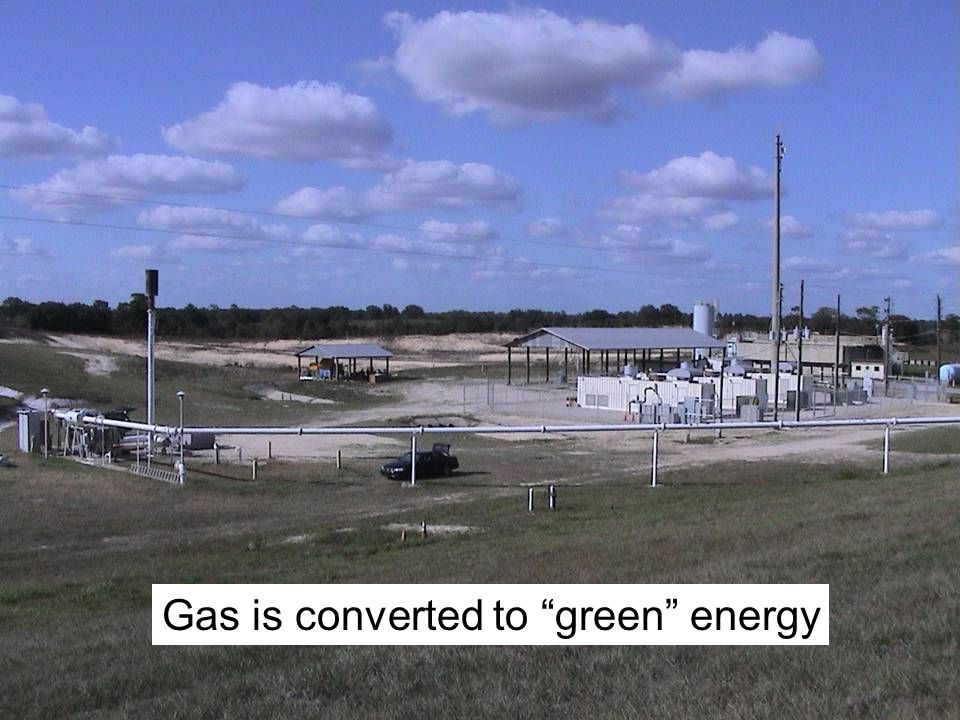 Gas is converted to green energy