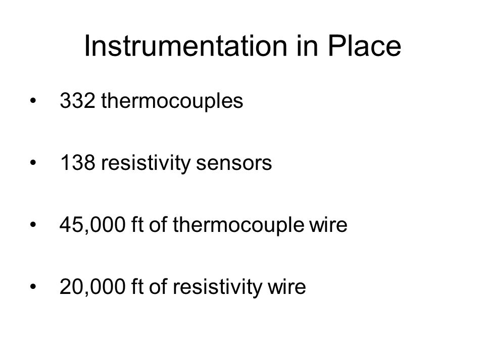 Instrumentation in Place