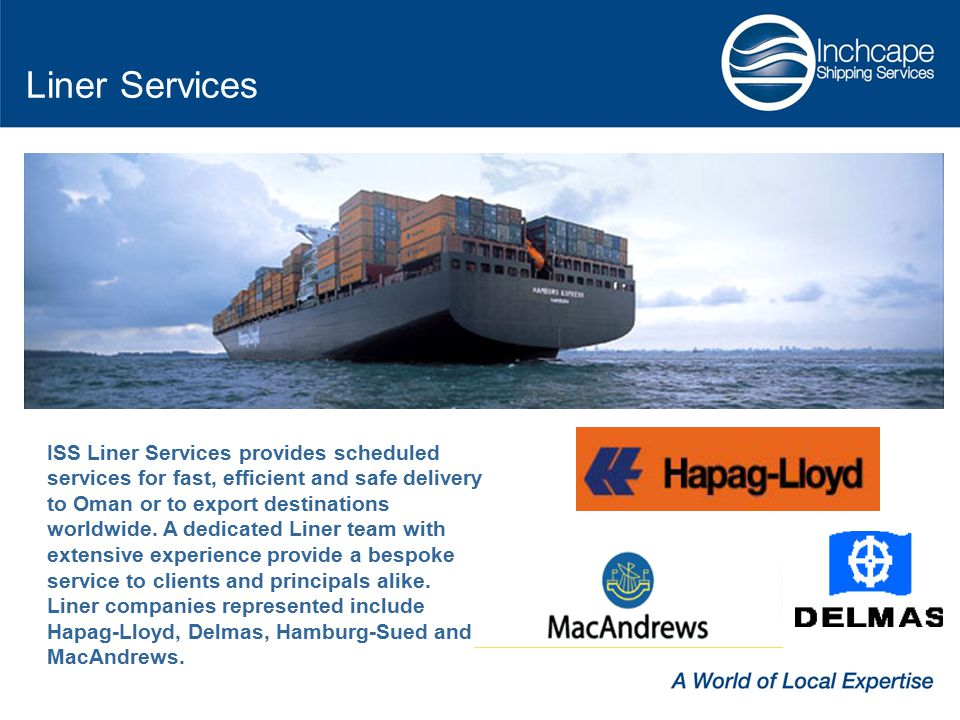 Liner Services ISS Liner Services provides scheduled