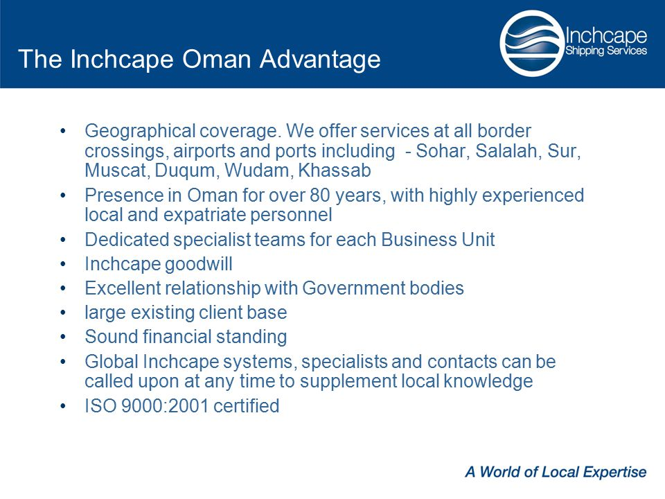 The Inchcape Oman Advantage