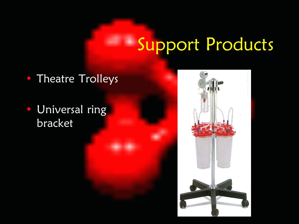 Support Products Theatre Trolleys Universal ring bracket