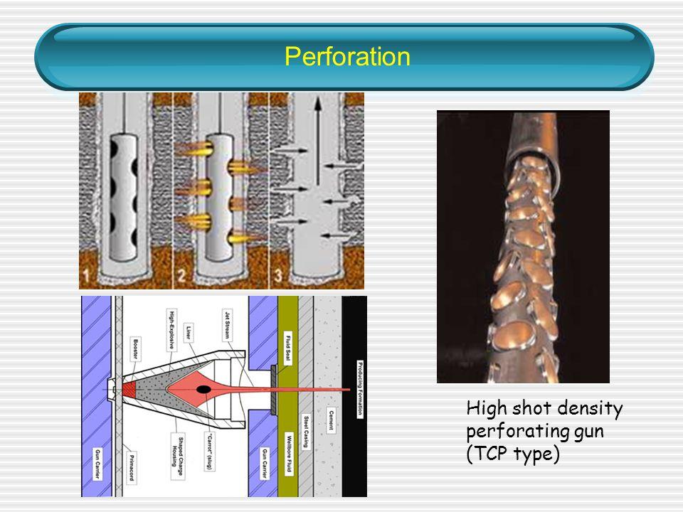 Perforation High shot density perforating gun (TCP type)