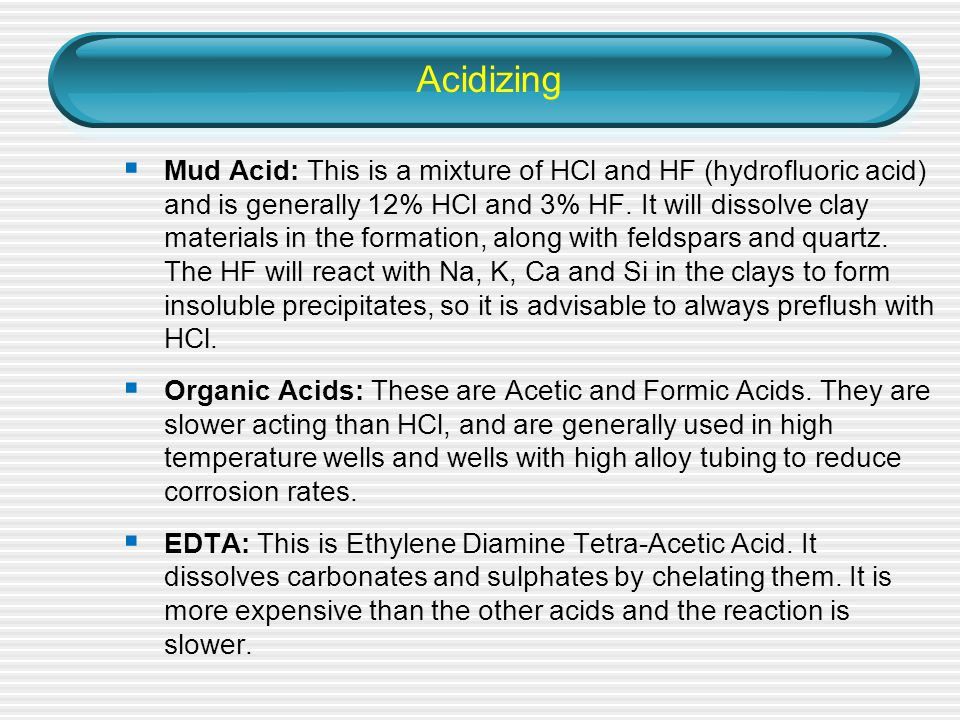 Acidizing