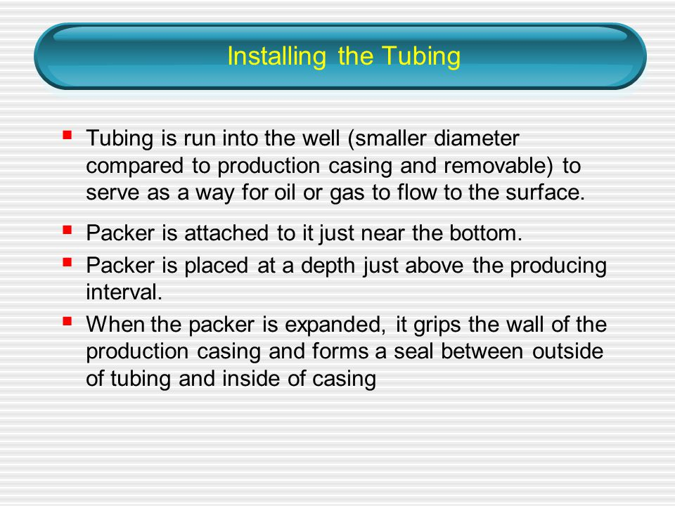 Installing the Tubing
