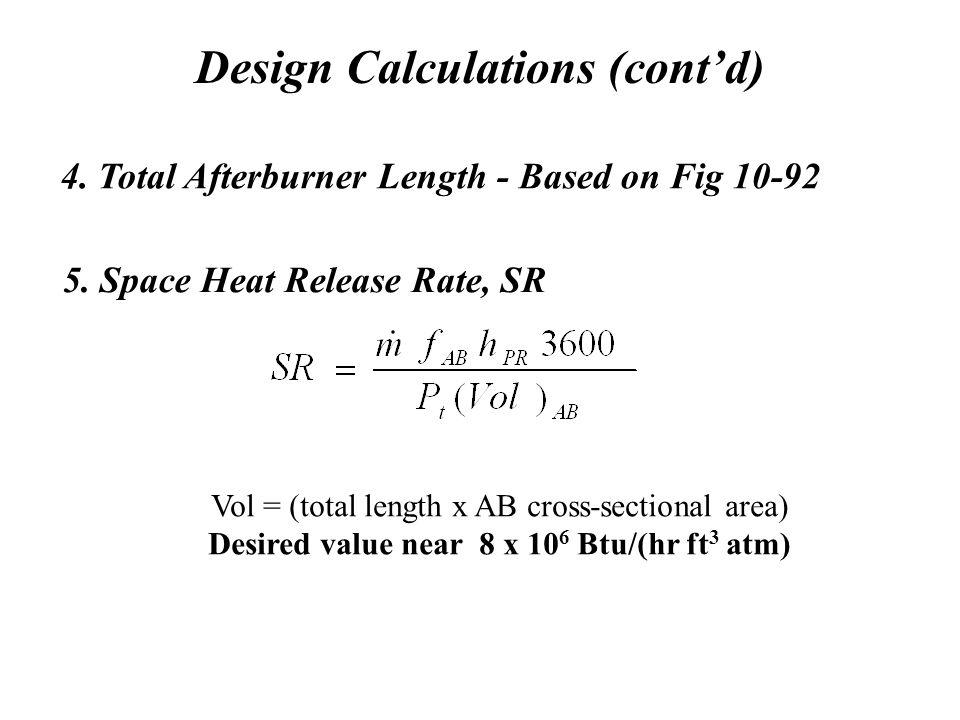 Design Calculations (cont'd)