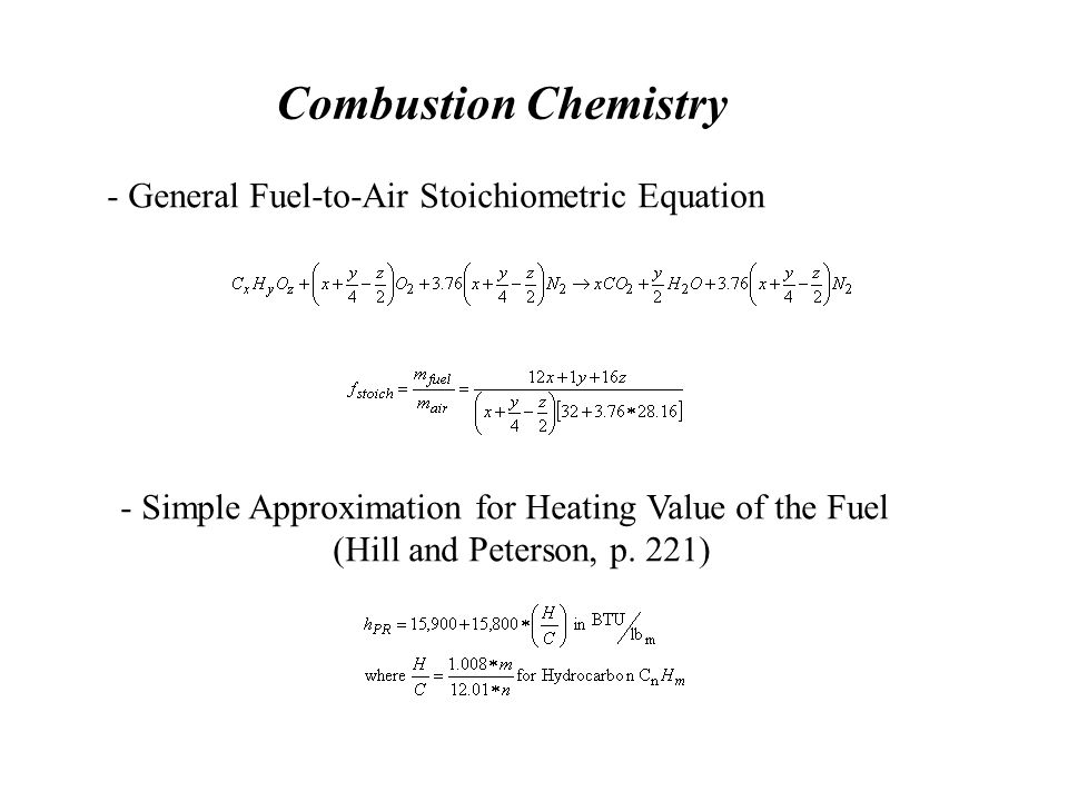 - Simple Approximation for Heating Value of the Fuel