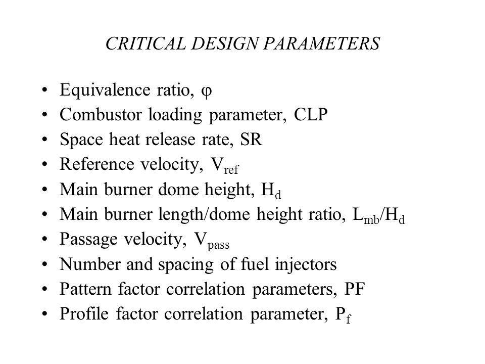 CRITICAL DESIGN PARAMETERS
