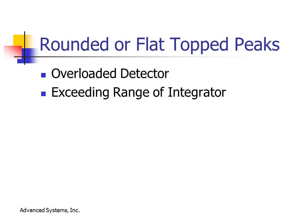 Rounded or Flat Topped Peaks