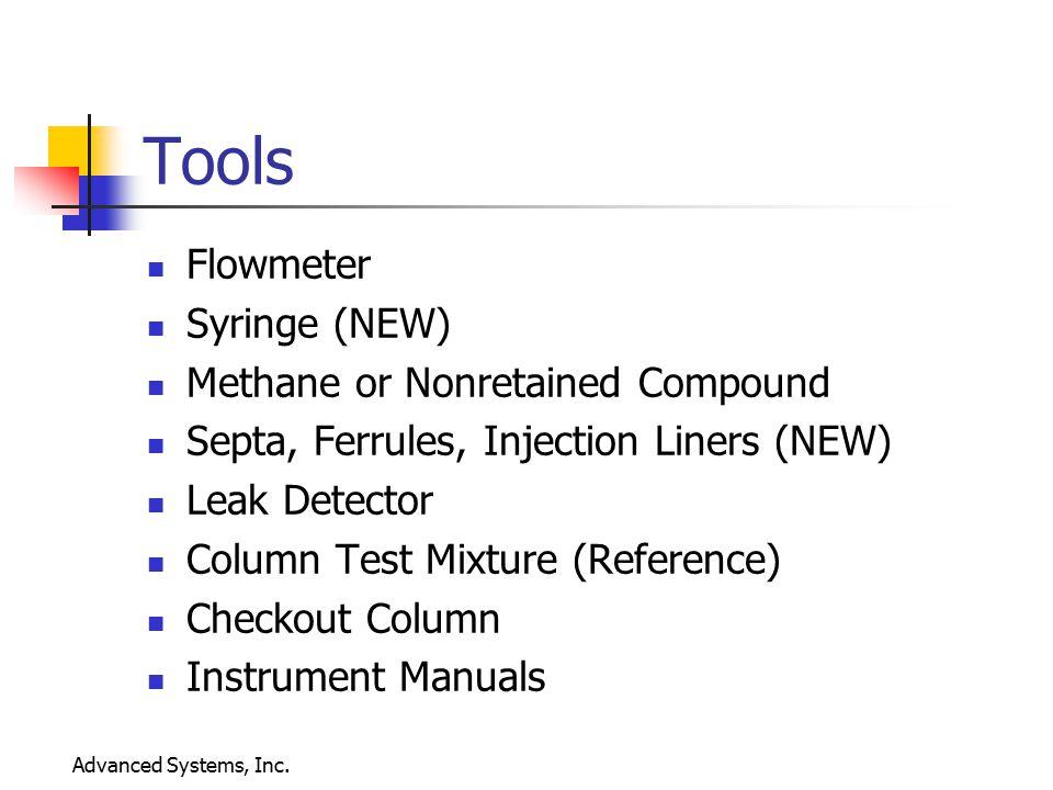 Tools Flowmeter Syringe (NEW) Methane or Nonretained Compound