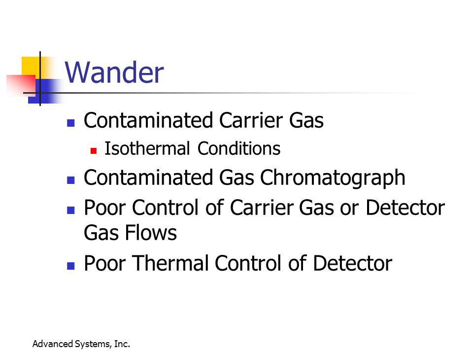 Wander Contaminated Carrier Gas Contaminated Gas Chromatograph