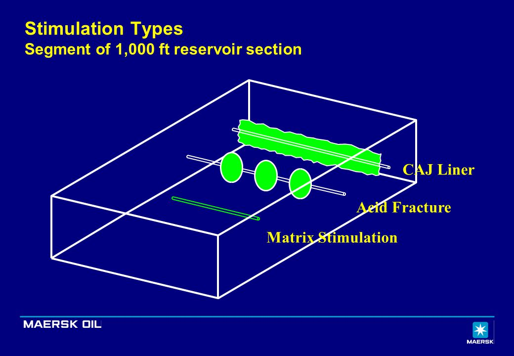 Stimulation Types Segment of 1,000 ft reservoir section