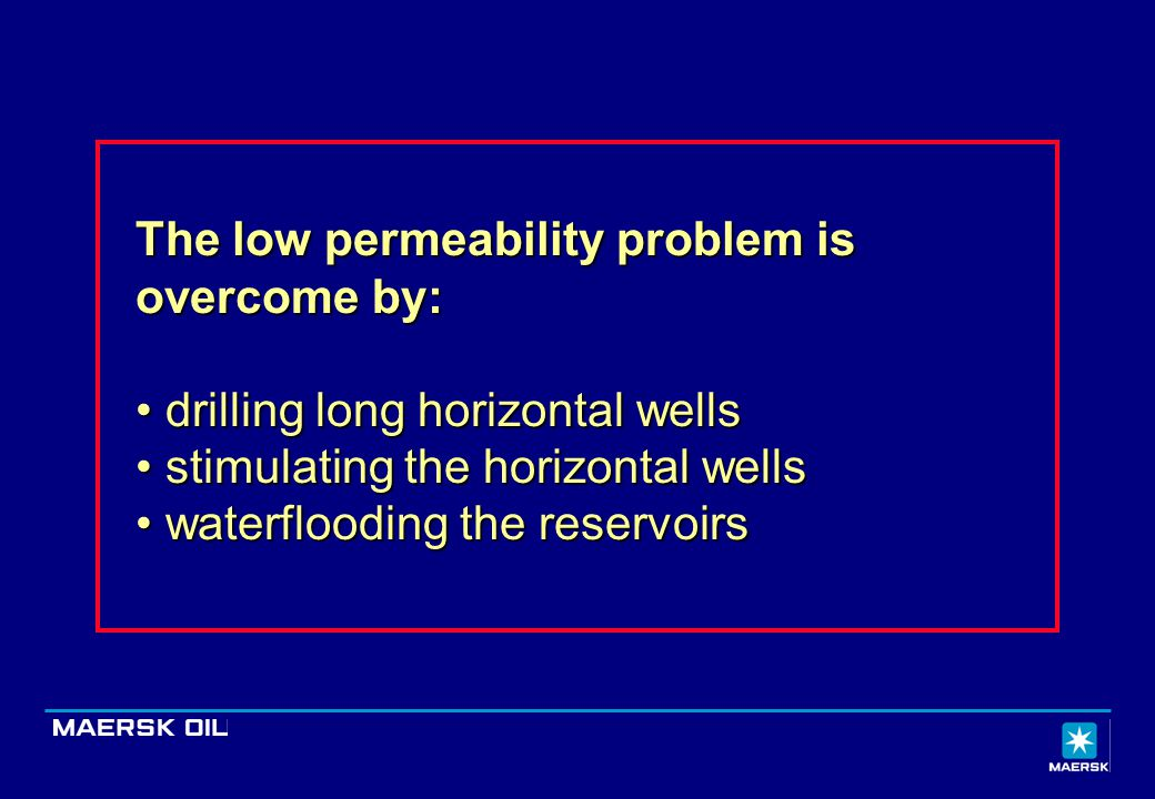 The low permeability problem is overcome by: