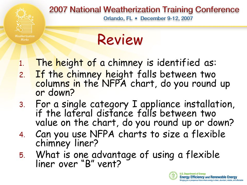 Review The height of a chimney is identified as: