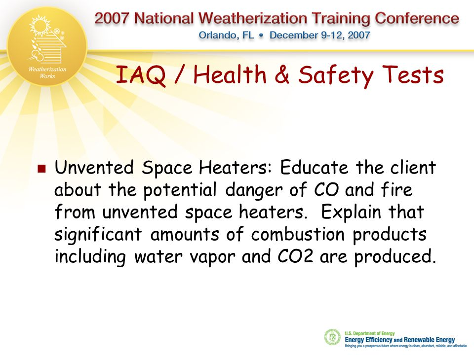 IAQ / Health & Safety Tests