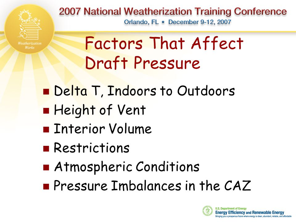 Factors That Affect Draft Pressure