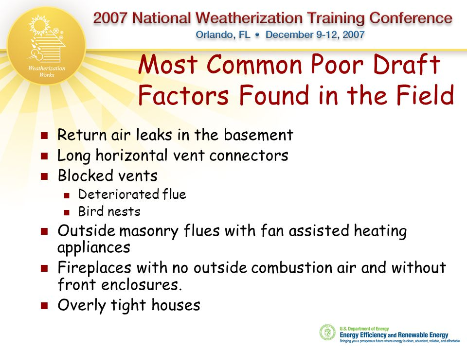 Most Common Poor Draft Factors Found in the Field