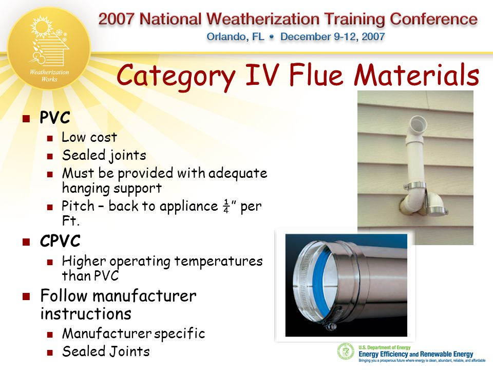 Category IV Flue Materials
