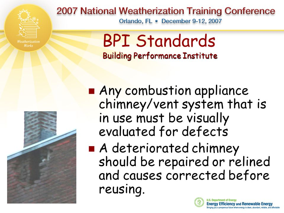 BPI Standards Building Performance Institute