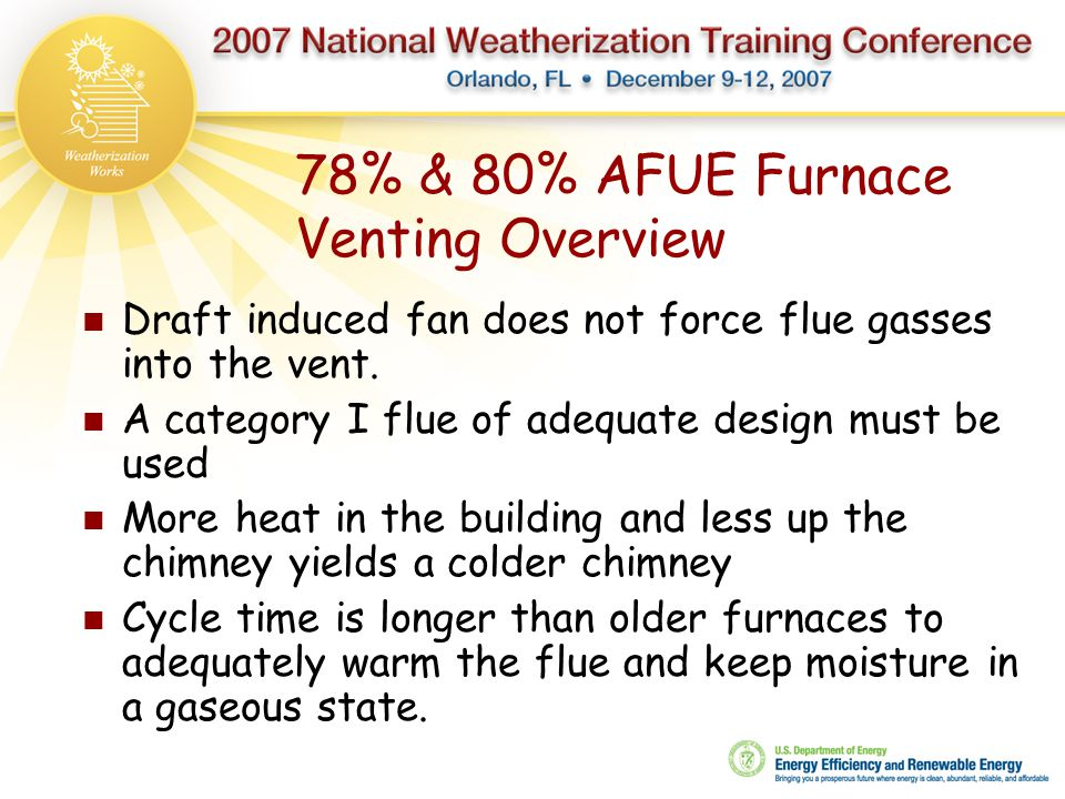 78% & 80% AFUE Furnace Venting Overview