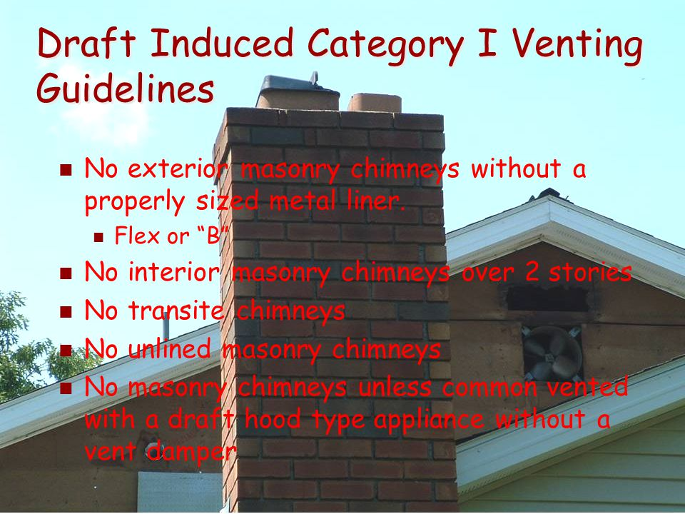 Draft Induced Category I Venting Guidelines