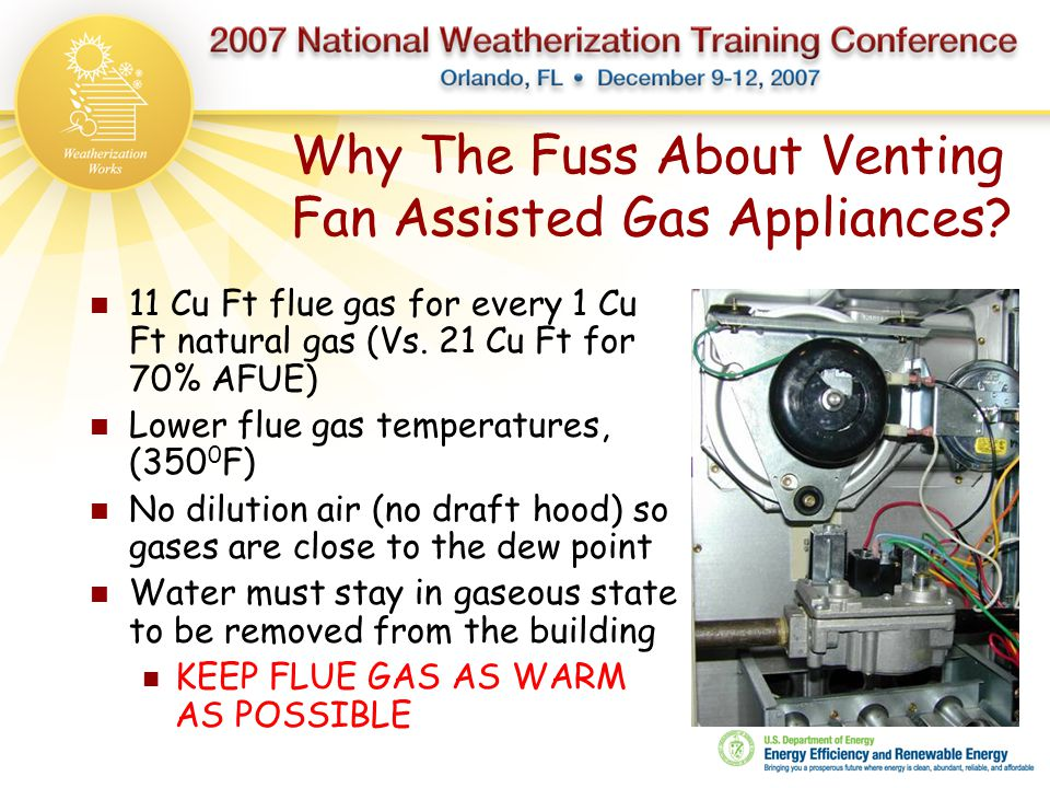 Why The Fuss About Venting Fan Assisted Gas Appliances