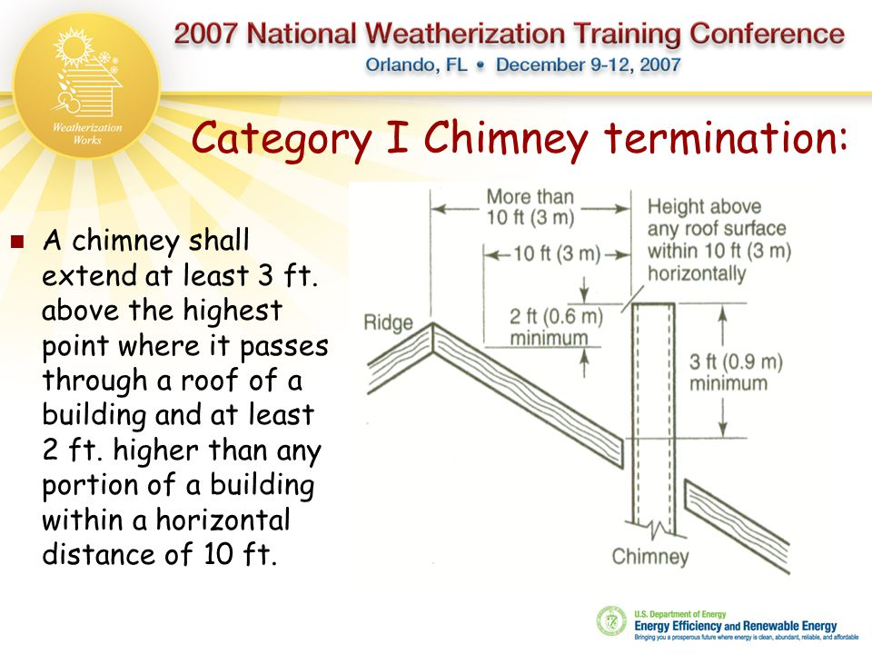Category I Chimney termination: