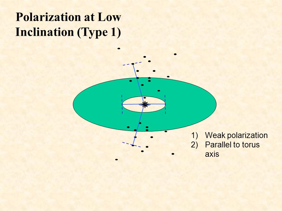 Polarization at Low Inclination (Type 1)