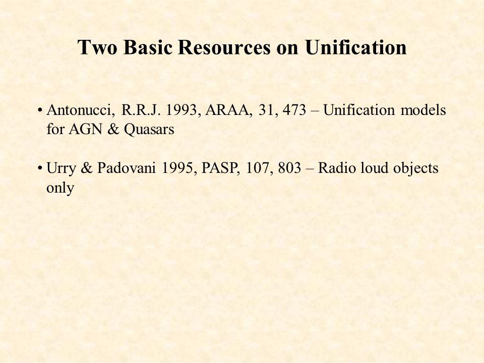 Two Basic Resources on Unification