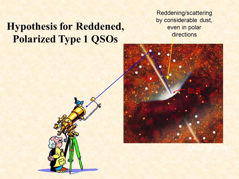 Hypothesis for Reddened, Polarized Type 1 QSOs