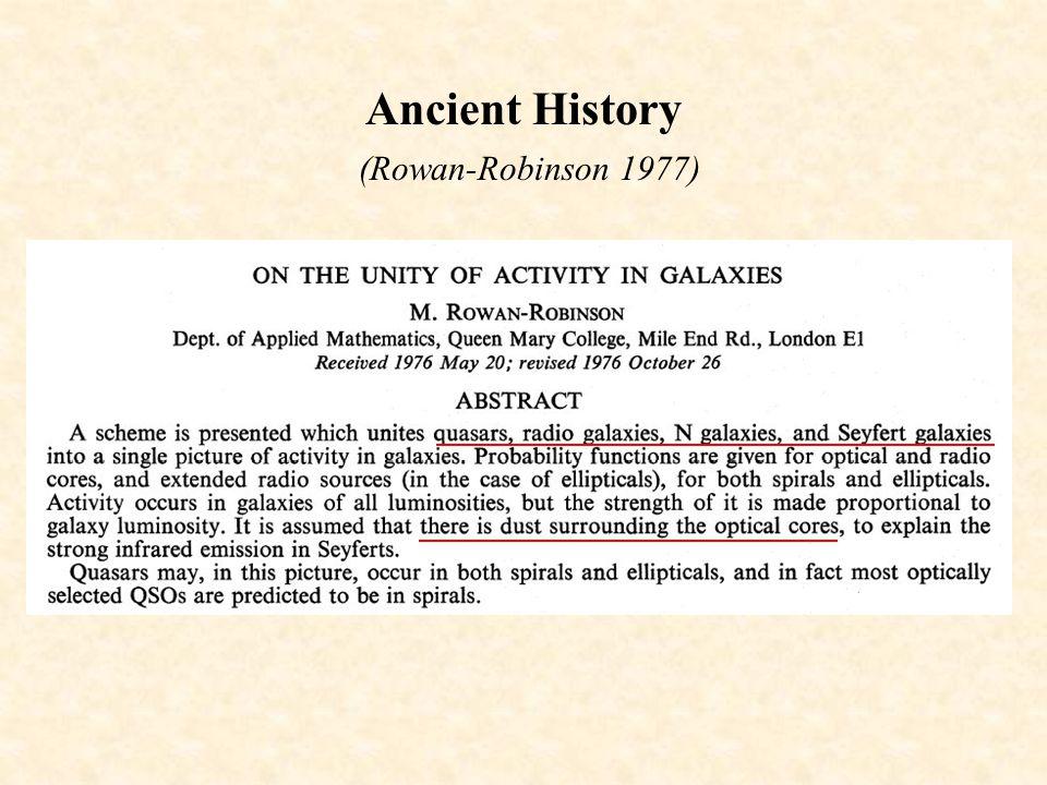 Ancient History (Rowan-Robinson 1977)