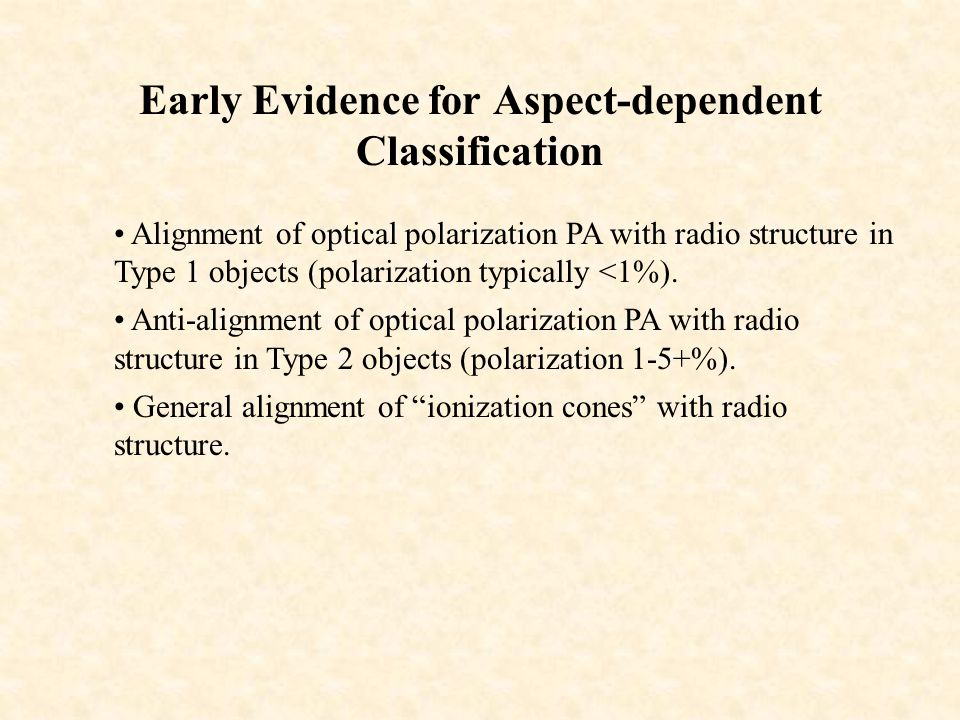 Early Evidence for Aspect-dependent Classification